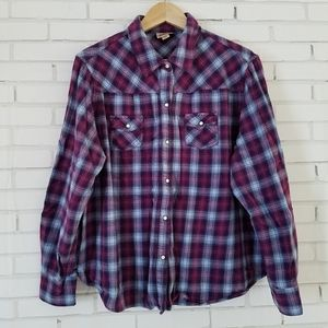 Women's Purple & Blue Flannel